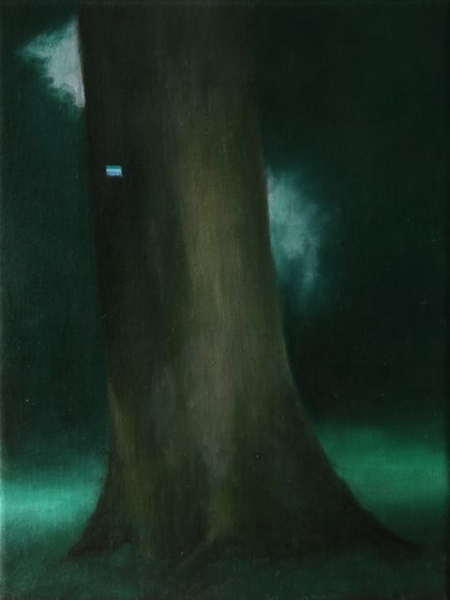 Oil on canvas,24X18,2011, pr coll